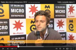 Interview Xavier Zeitoun Salon des Micro-entreprises 2012 - conseils contre le sentiment d'isolement des jeunes entrepreneurs